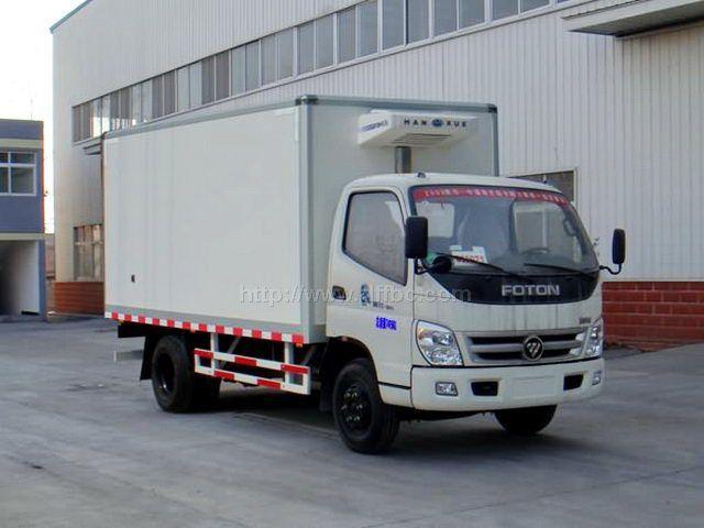福田5.1米箱长冷藏车